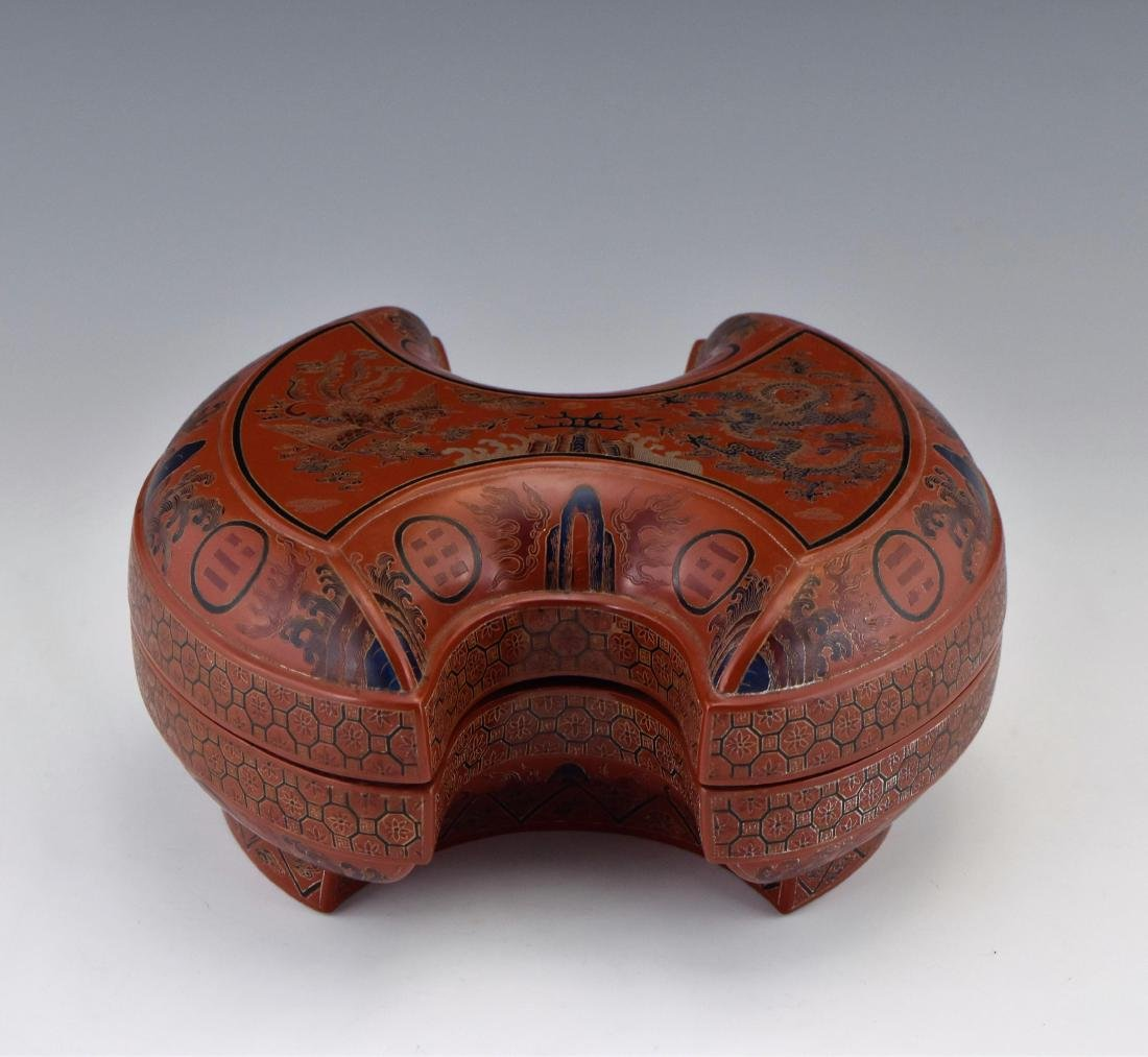 QING DYNASTY COVERED LACQUER FRUIT BOX