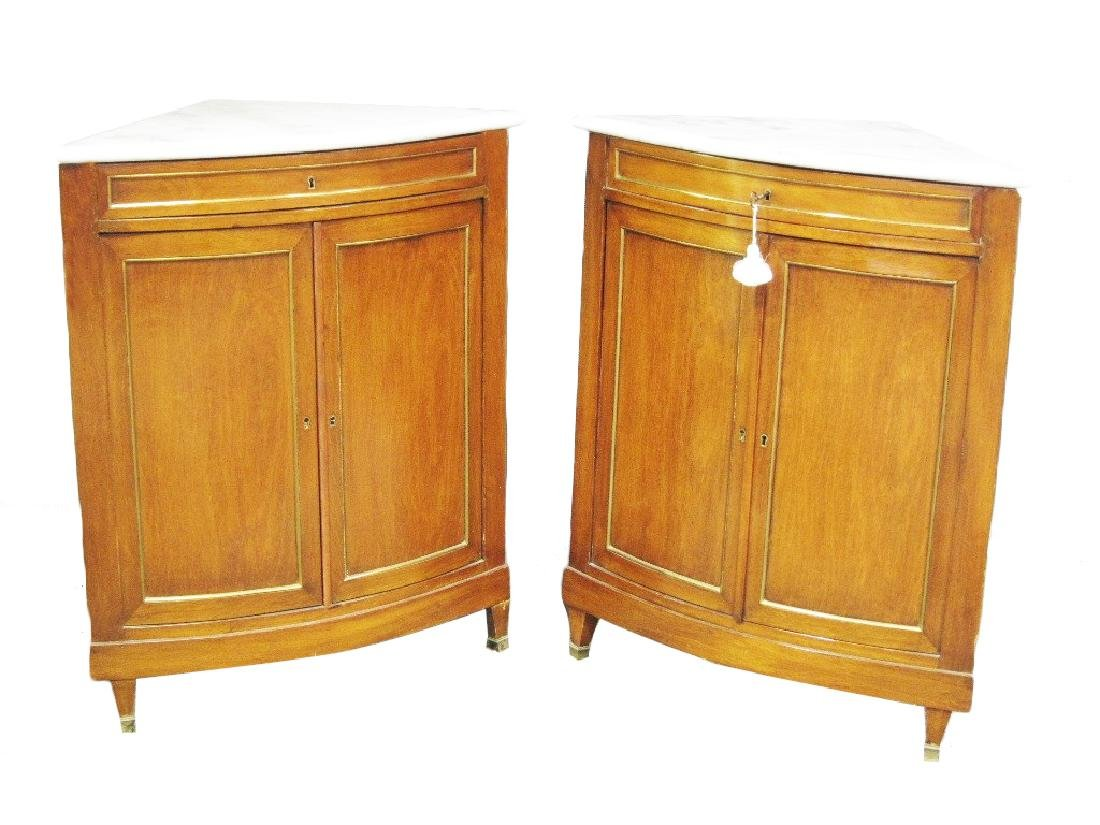 ANTIQUE CORNER CABINETS