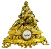 LARGE FRENCH BRONZE CLOCK