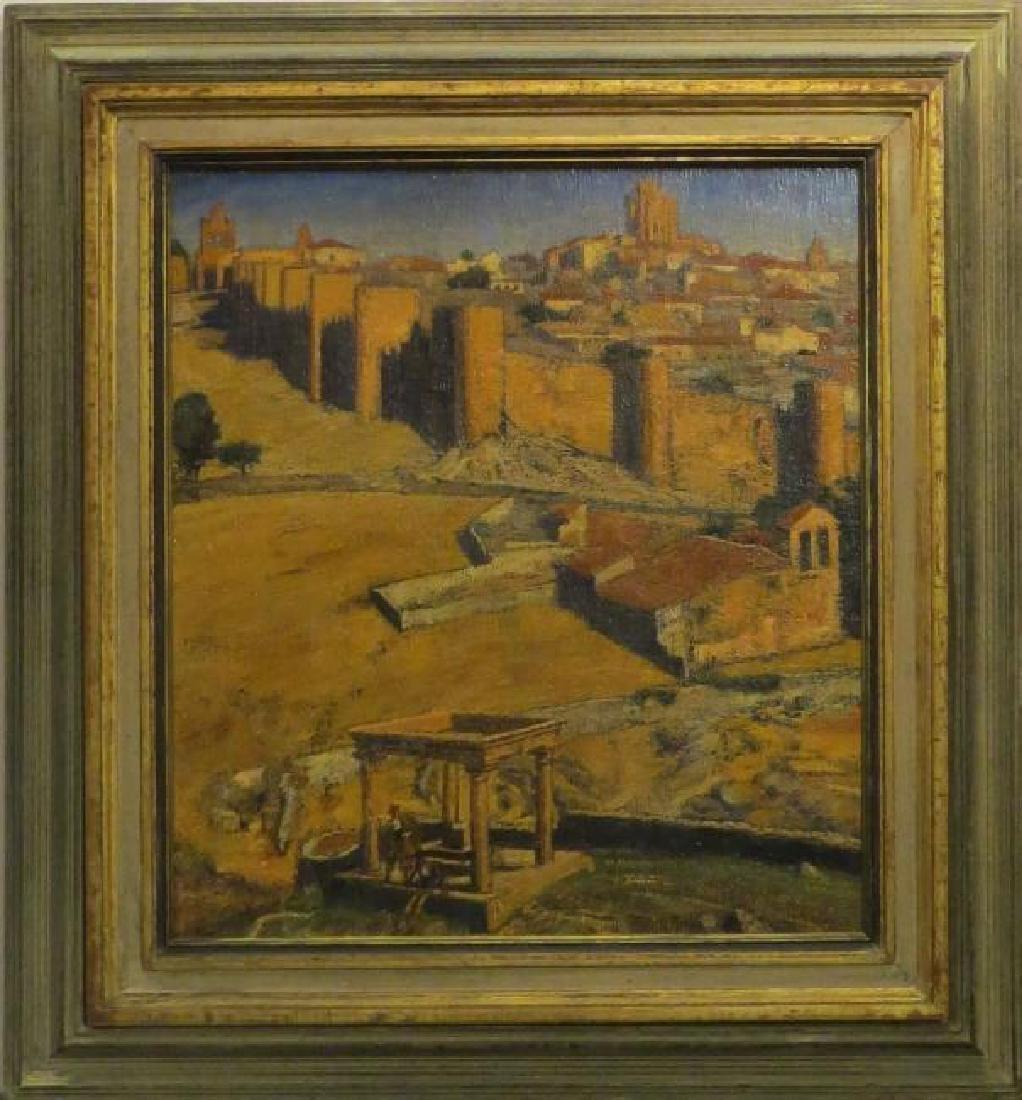 AVILA, WALLED CITY IN SPAIN BY A.E. (ARCHIBALD ELLIOT)