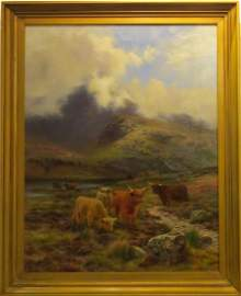 LOUIS BOSWORTH HURT (1856�1929), MY HIGHLAND GOLD, OIL