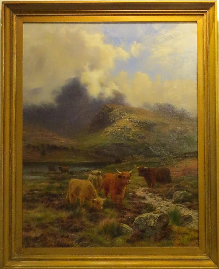 LOUIS BOSWORTH HURT (1856–1929), MY HIGHLAND GOLD, OIL