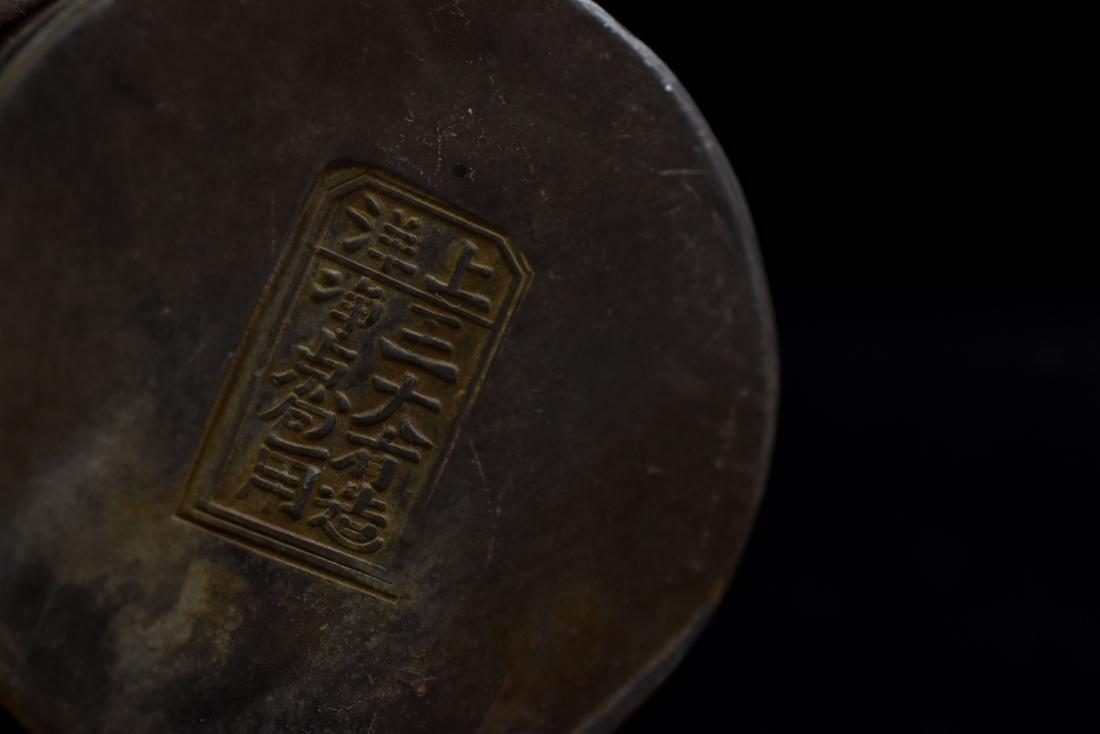 18TH C JADE RING & PEWTER BOX - 8