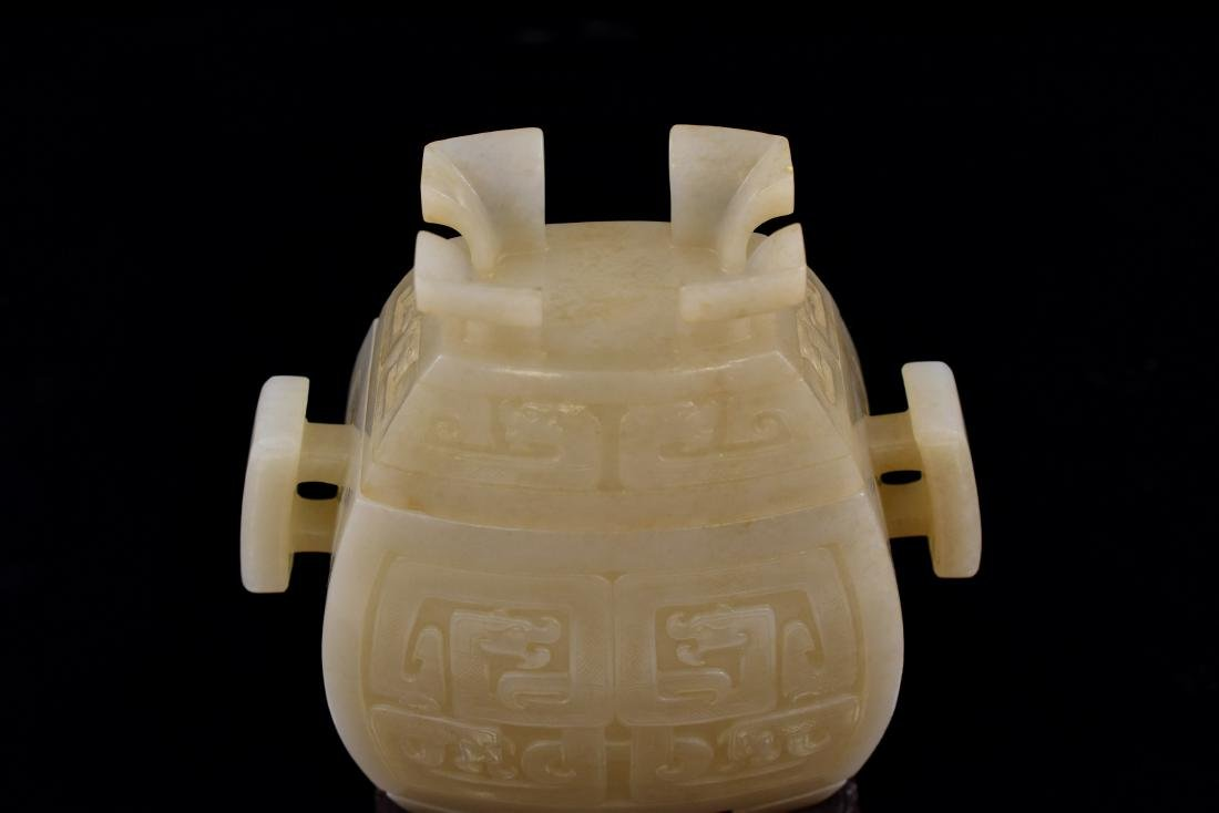 CHINESE JADE FU CENSER ON STAND - 10
