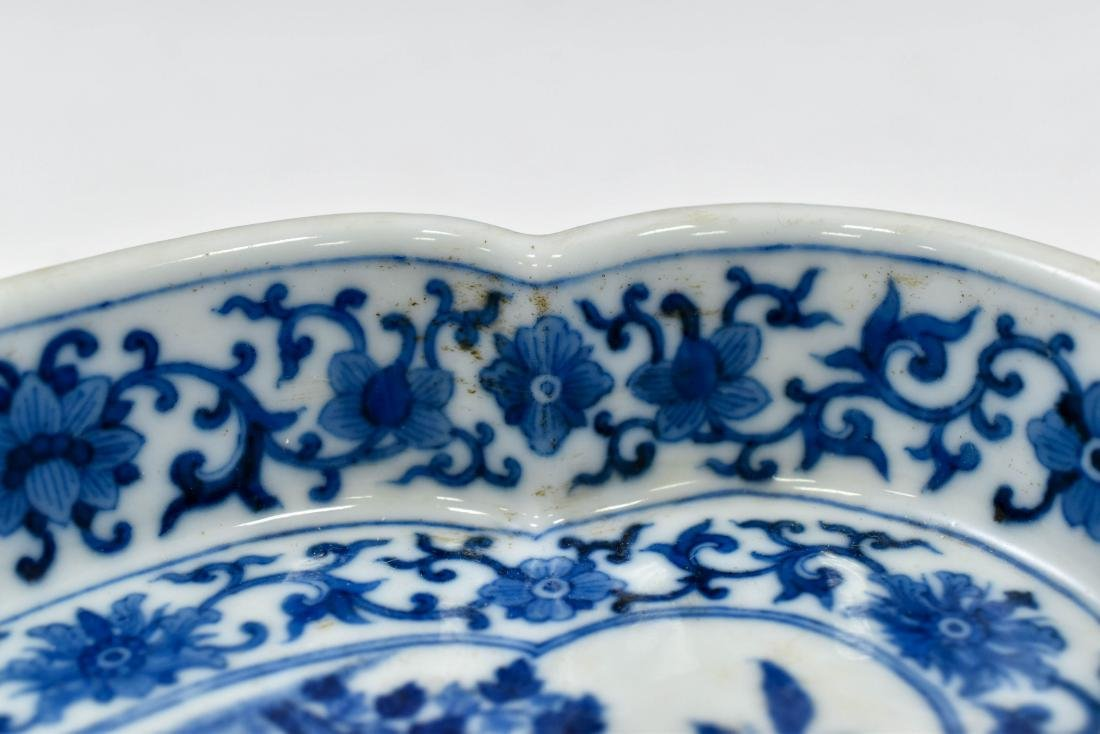 QING CHINESE NARCISSUS PORCELAIN PLATE - 10