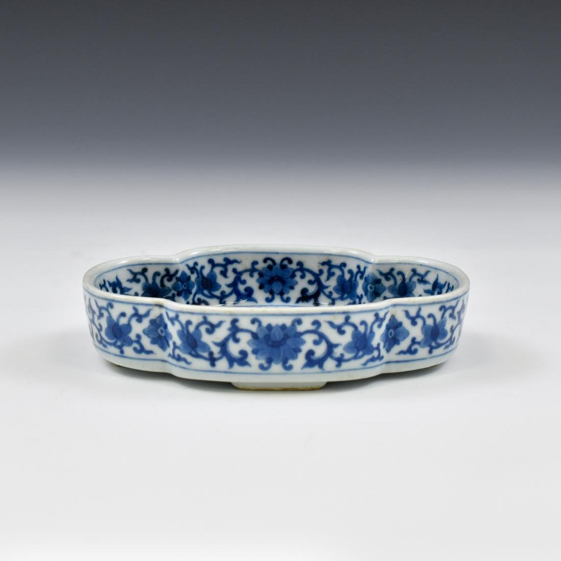 QING CHINESE NARCISSUS PORCELAIN PLATE - 3