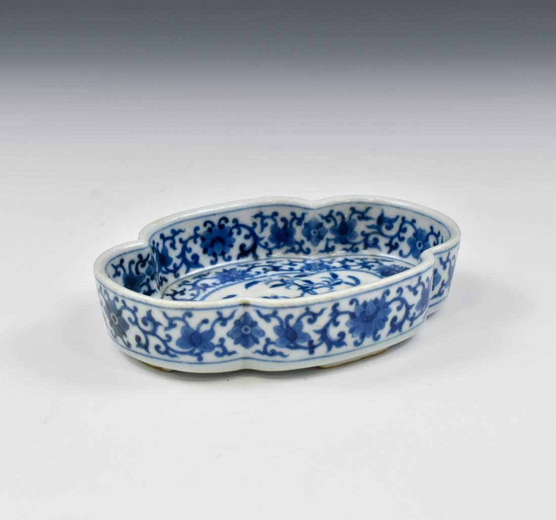 QING CHINESE NARCISSUS PORCELAIN PLATE - 4