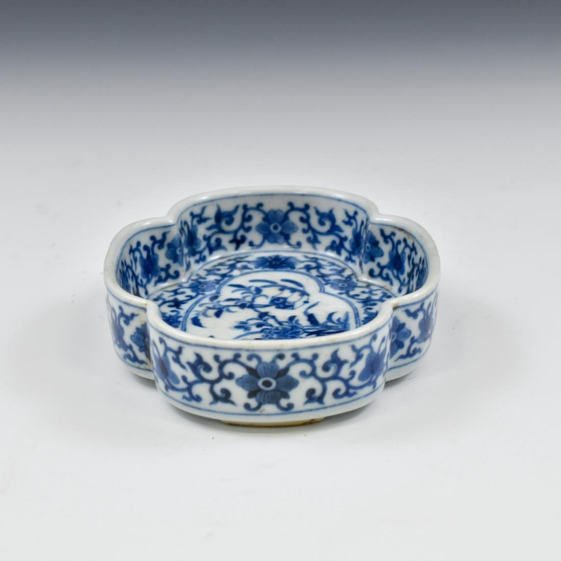 QING CHINESE NARCISSUS PORCELAIN PLATE - 5