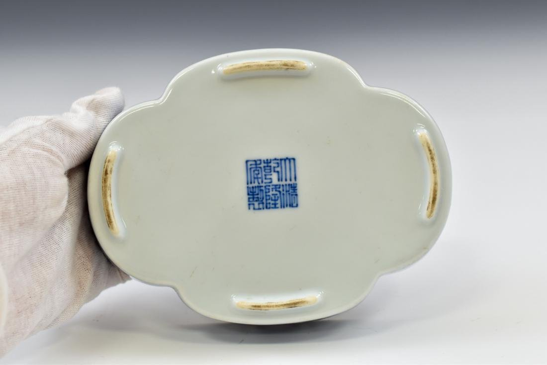 QING CHINESE NARCISSUS PORCELAIN PLATE - 7