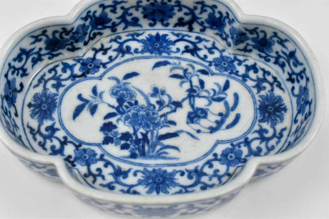 QING CHINESE NARCISSUS PORCELAIN PLATE - 9