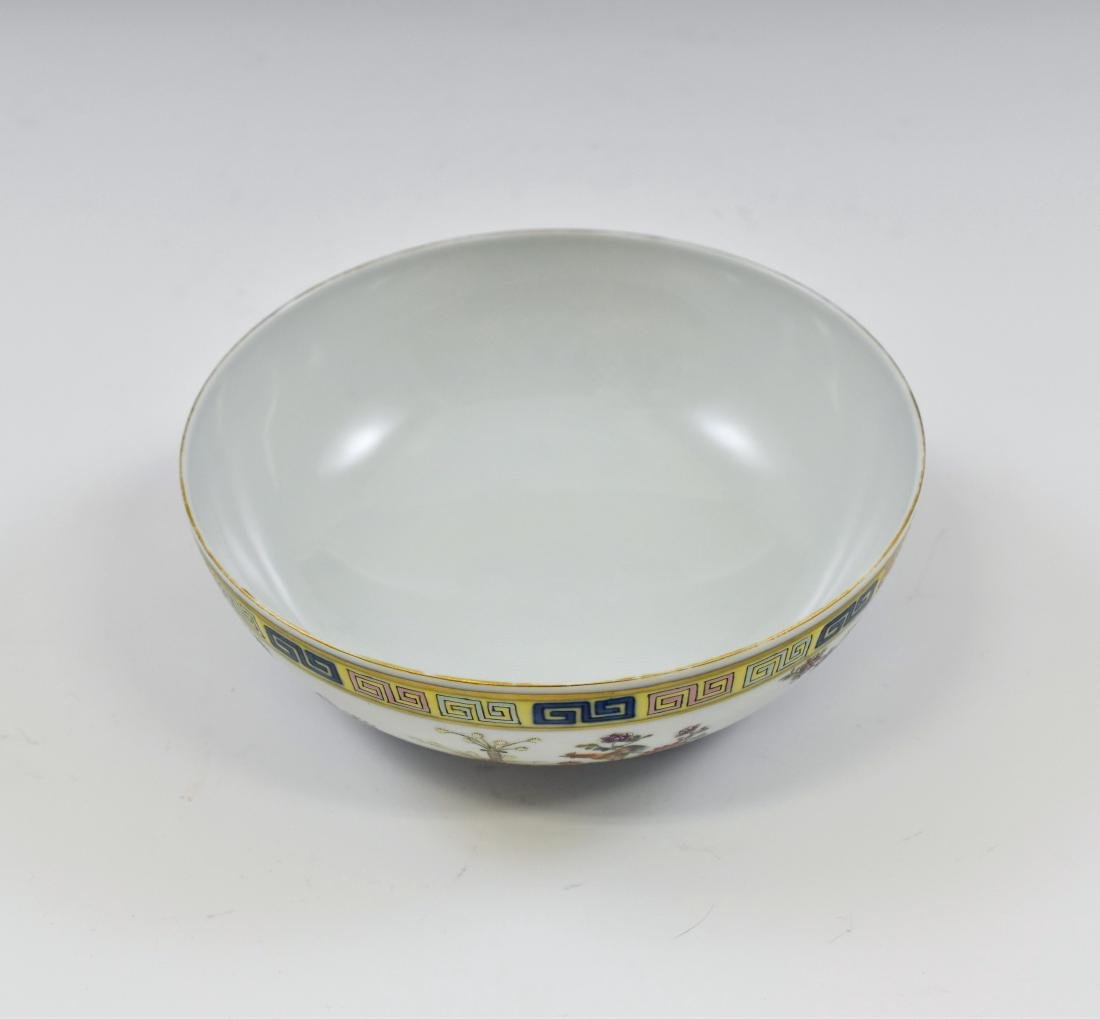 CHINESE FAMILLE ROSE CAMELIA MOTIF BOWL - 2