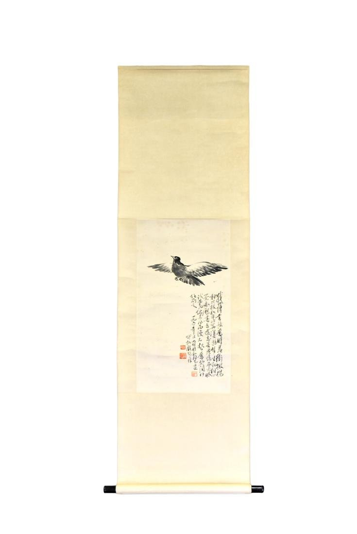CHINESE PAINTING SCROLL OF BIRD
