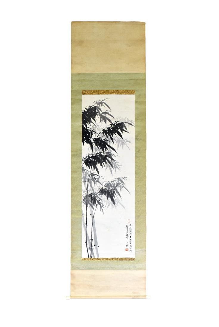 CHINESE PAINTING SCROLL OF BAMBOO