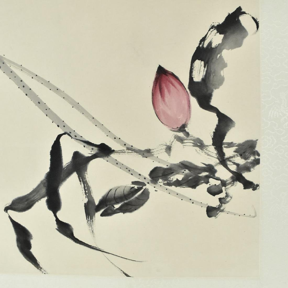 CHINESE PAINTING SCROLL OF FLORAL - 2