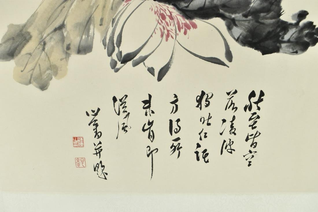 CHINESE PAINTING SCROLL OF FLORAL - 3