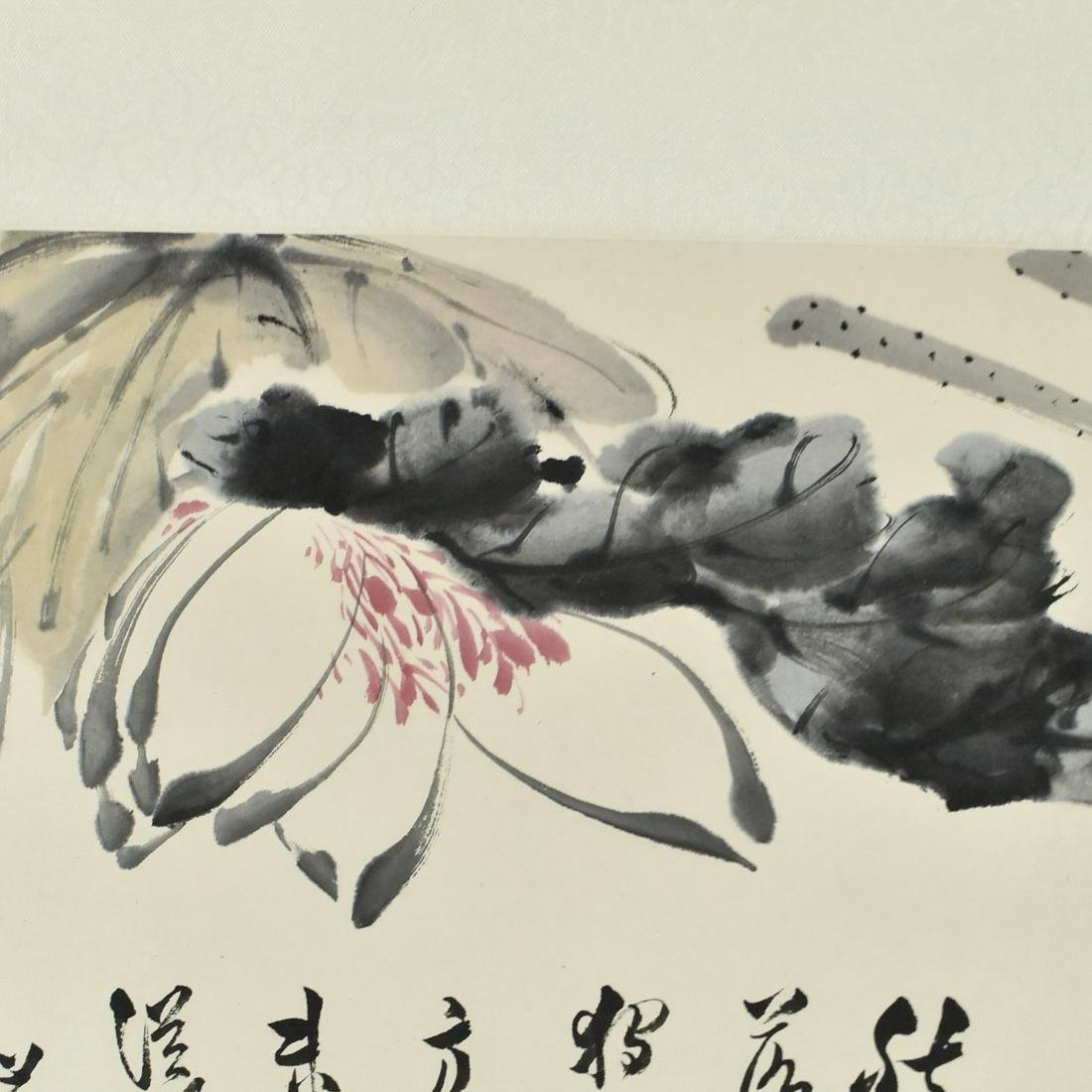 CHINESE PAINTING SCROLL OF FLORAL - 4