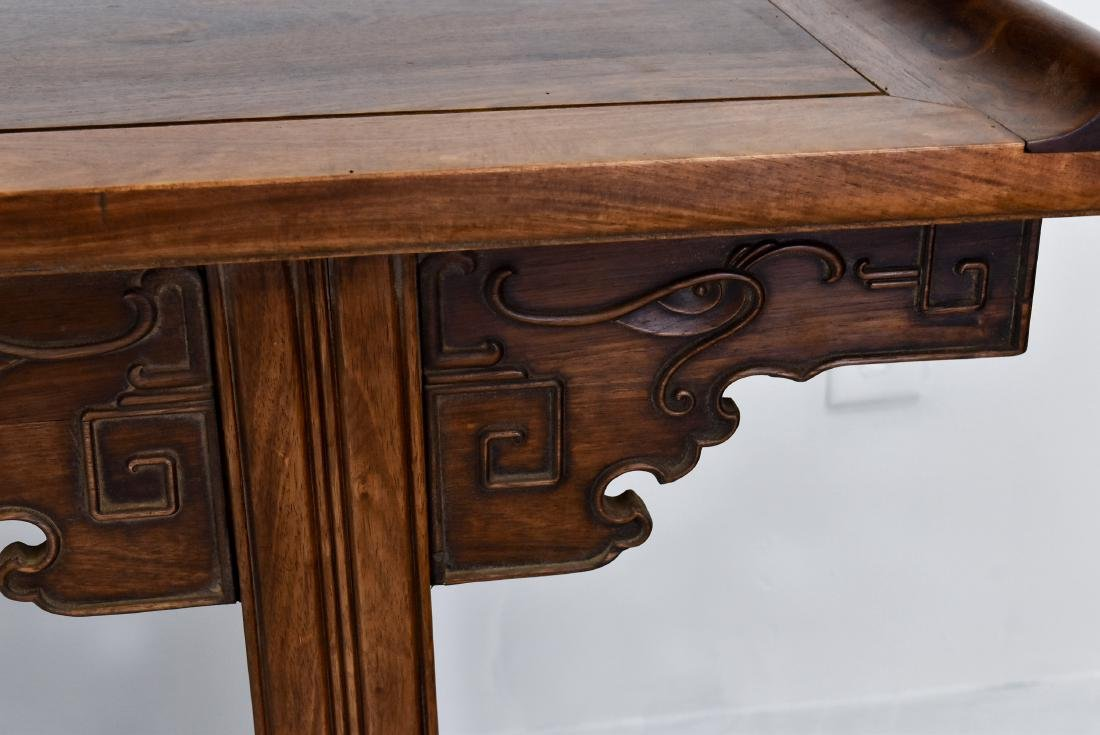 19TH C QING HUANGHUALI EVERTED ENDS ALTAR TABLE - 7
