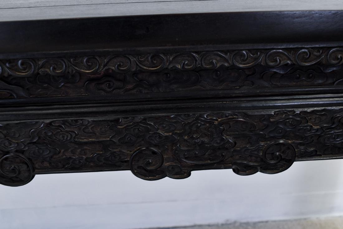 18/19TH C CHINESE ZITAN PAINTING TABLE WITH CABRIOLLE - 4