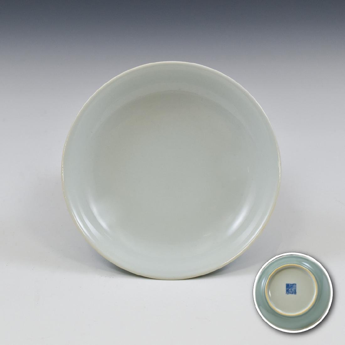 CHINESE QING DOUQING PORCELAIN PLATE