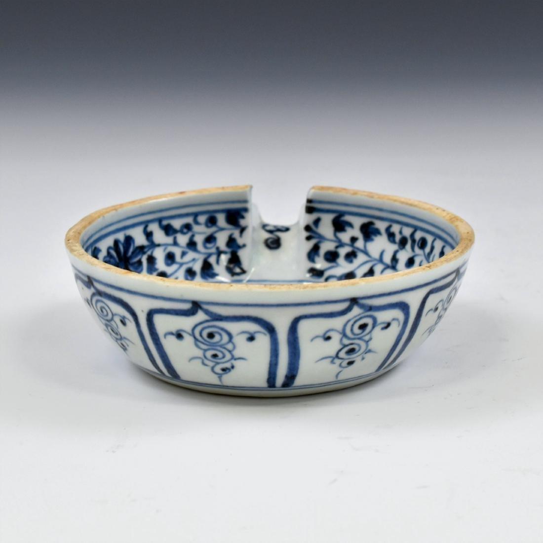 15 TH C YUAN DYNASTY BLUE & WHITE PORCELAIN WATER - 7