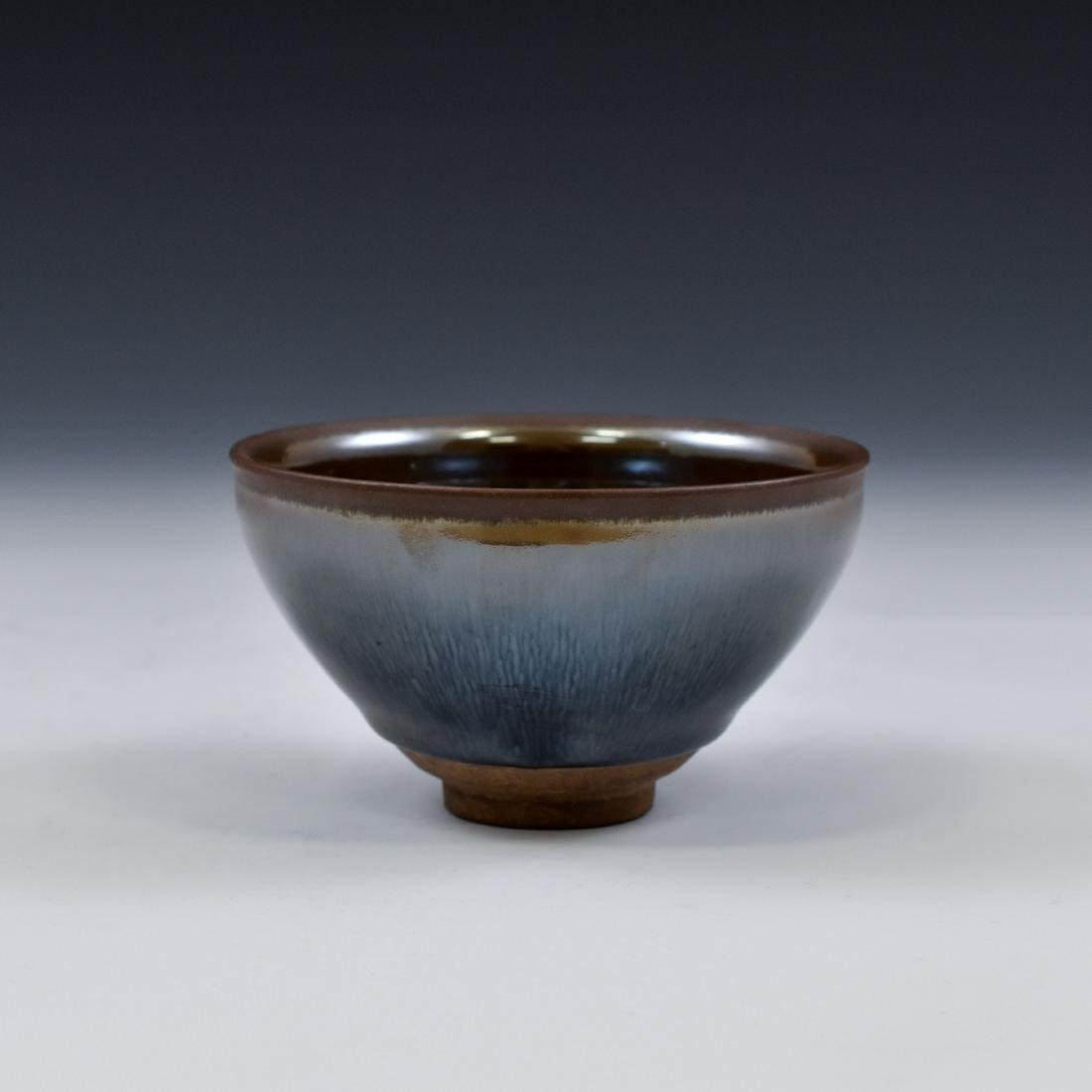 CHINESE JIAN WARE 'HARE FUR' TEA BOWL