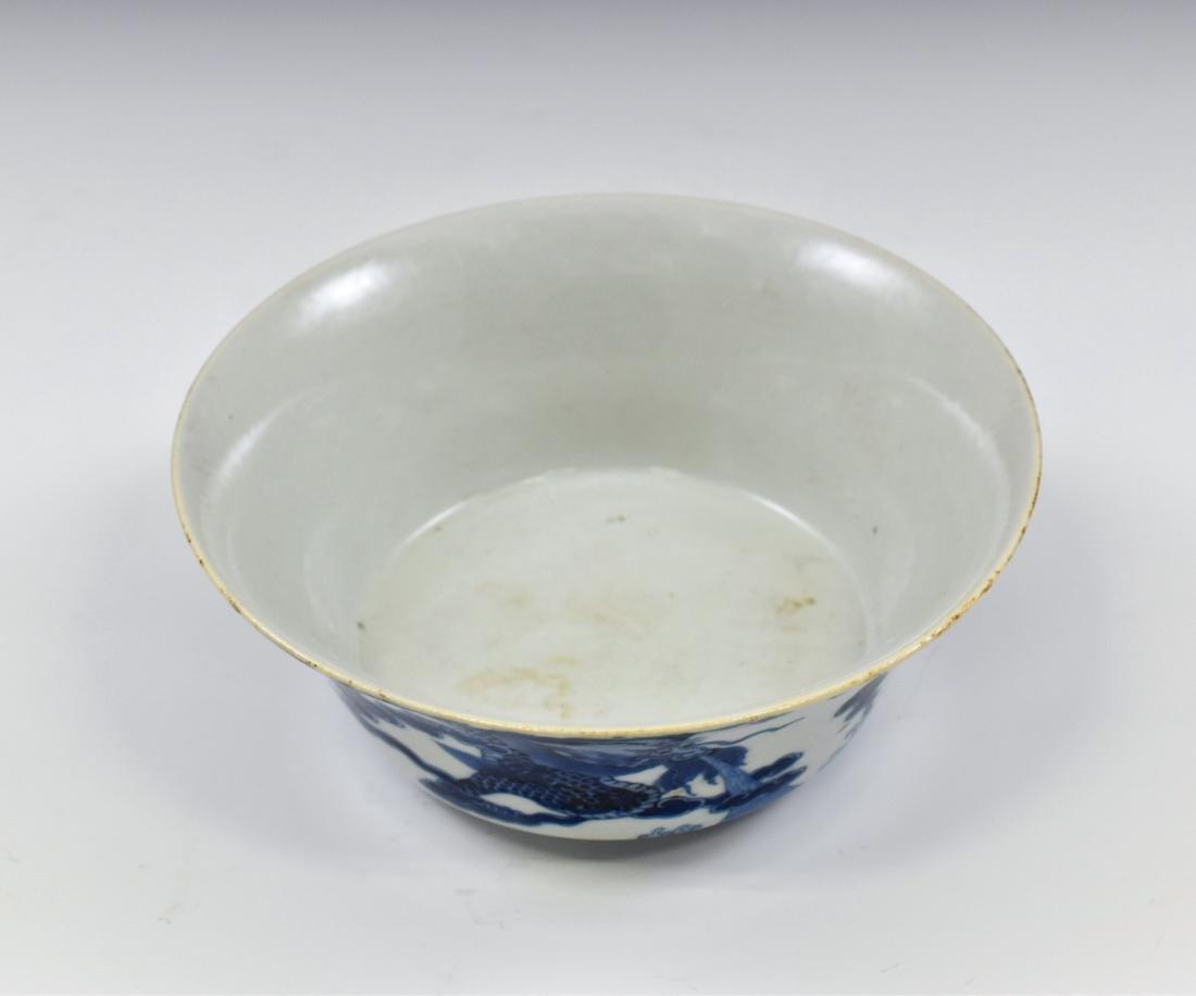 KANGXI BLUE & WHITE DRAGON BOWL - 3