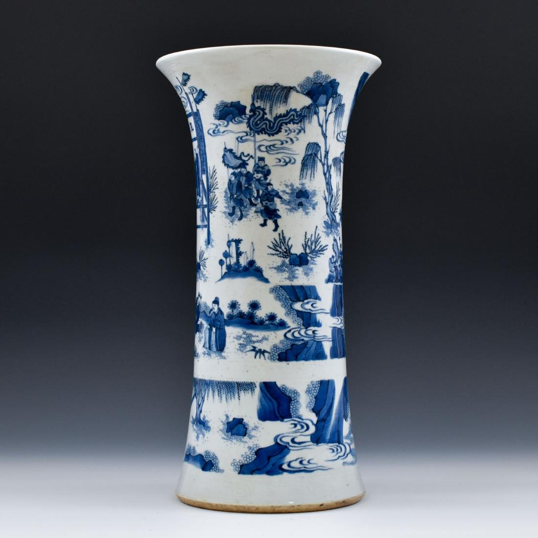 BLUE AND WHITE GU PORCELAIN VASE