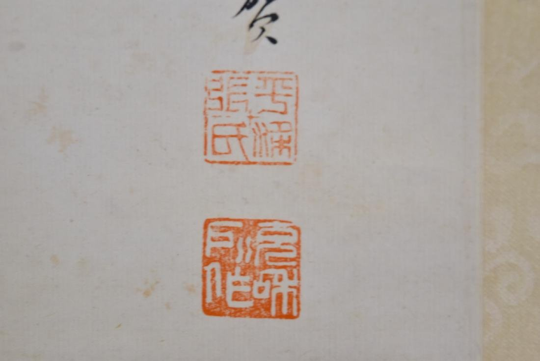 CHINESE PAINTING SCROLL OF CAMELLIA BLOOMS - 4