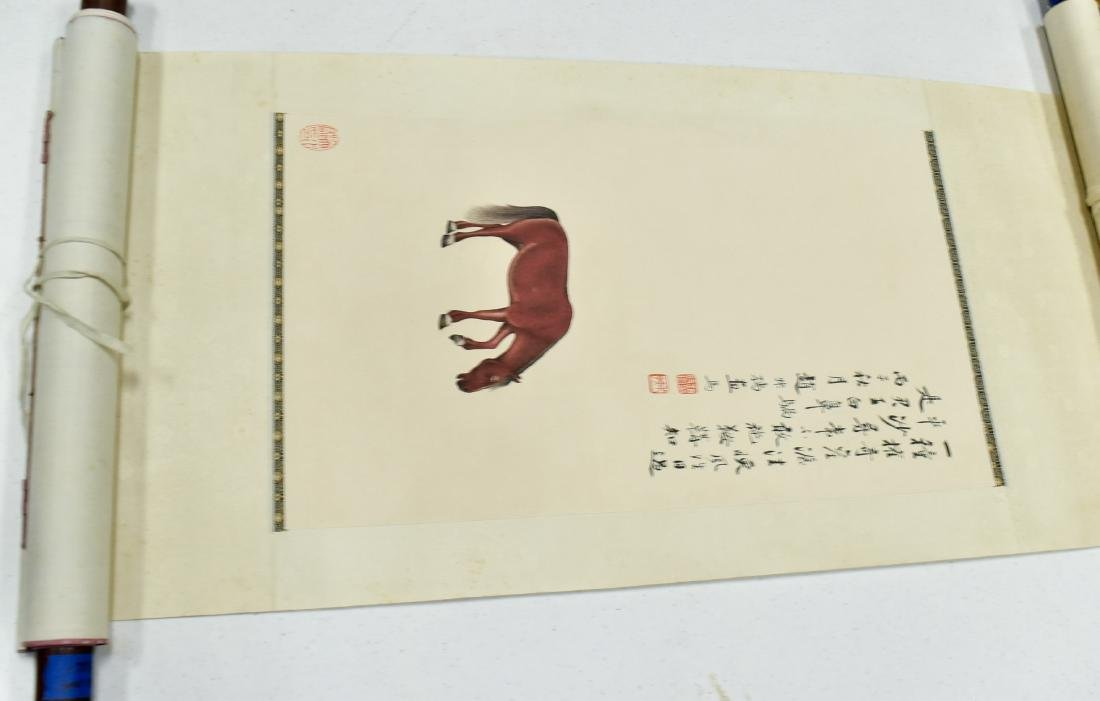 CHINESE PAINTING SCROLL OF HORSE - 2