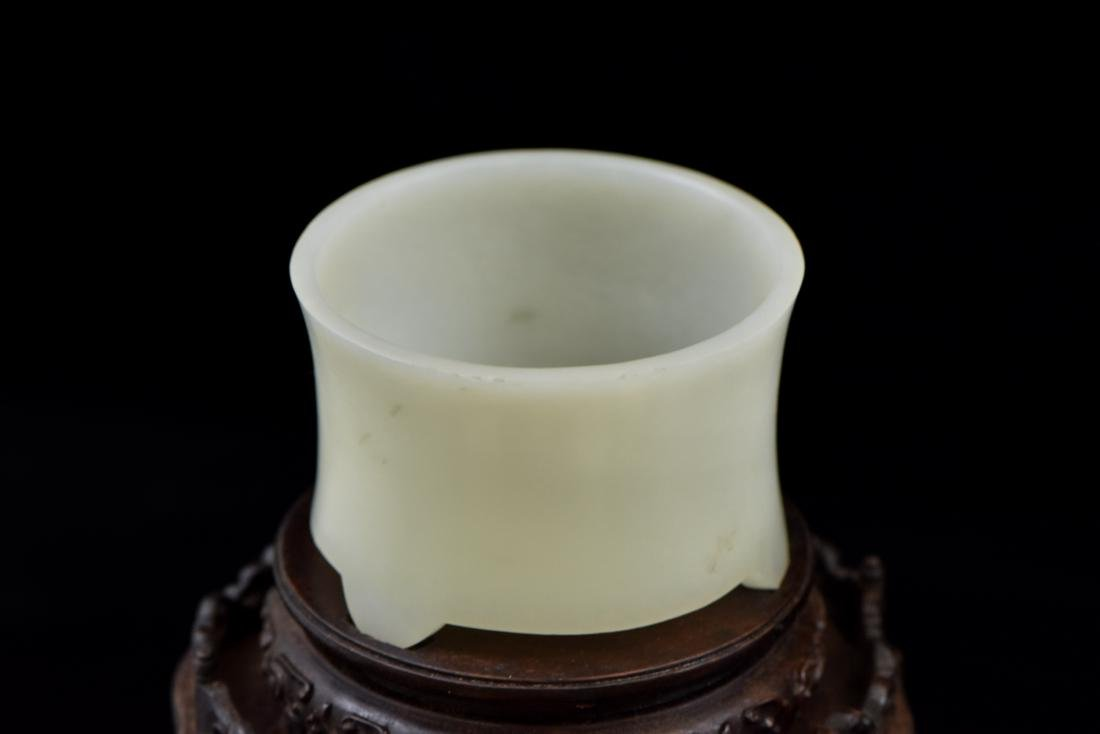 SET OF 3 PCS WHITE JADE ATTRIBUTES ON STAND - 7