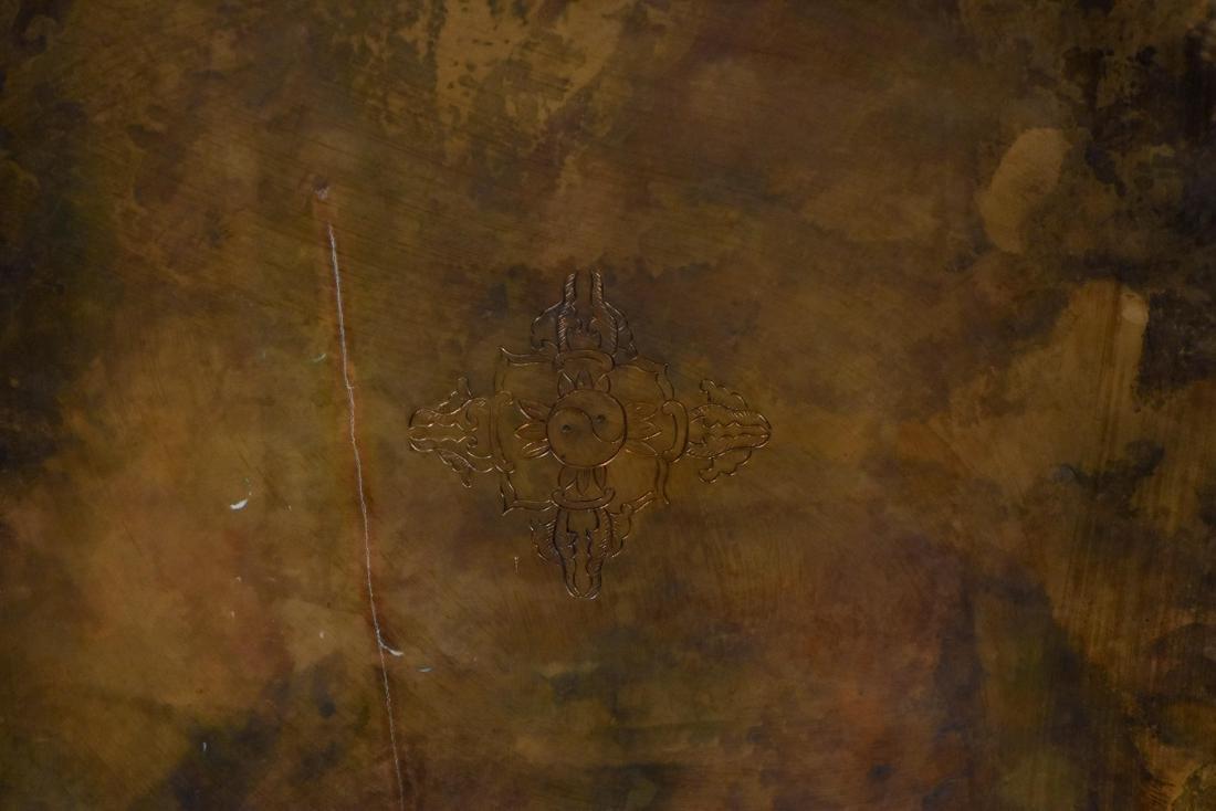 MASSIVE QING GILT BRONZE & STONES INLAID BUDDHA STUPA - 7