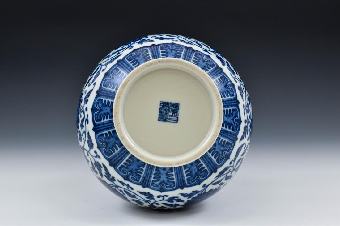 BLUE AND WHITE LOTUS CLESTIAL VASE - 3