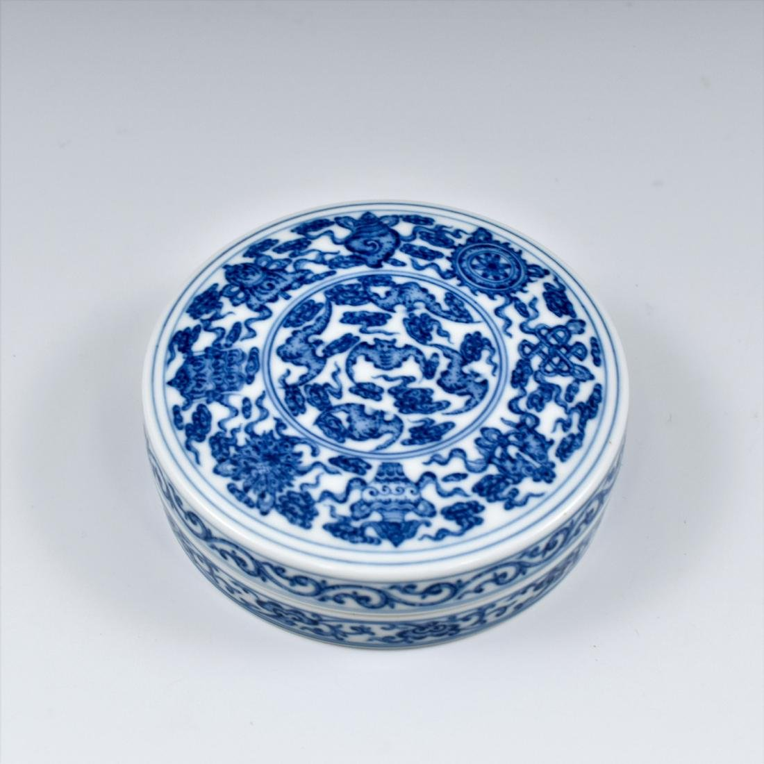 QING CHINESE PORCELAIN INK BOX