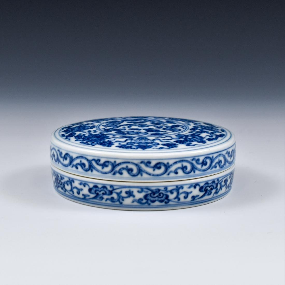QING CHINESE PORCELAIN INK BOX - 3