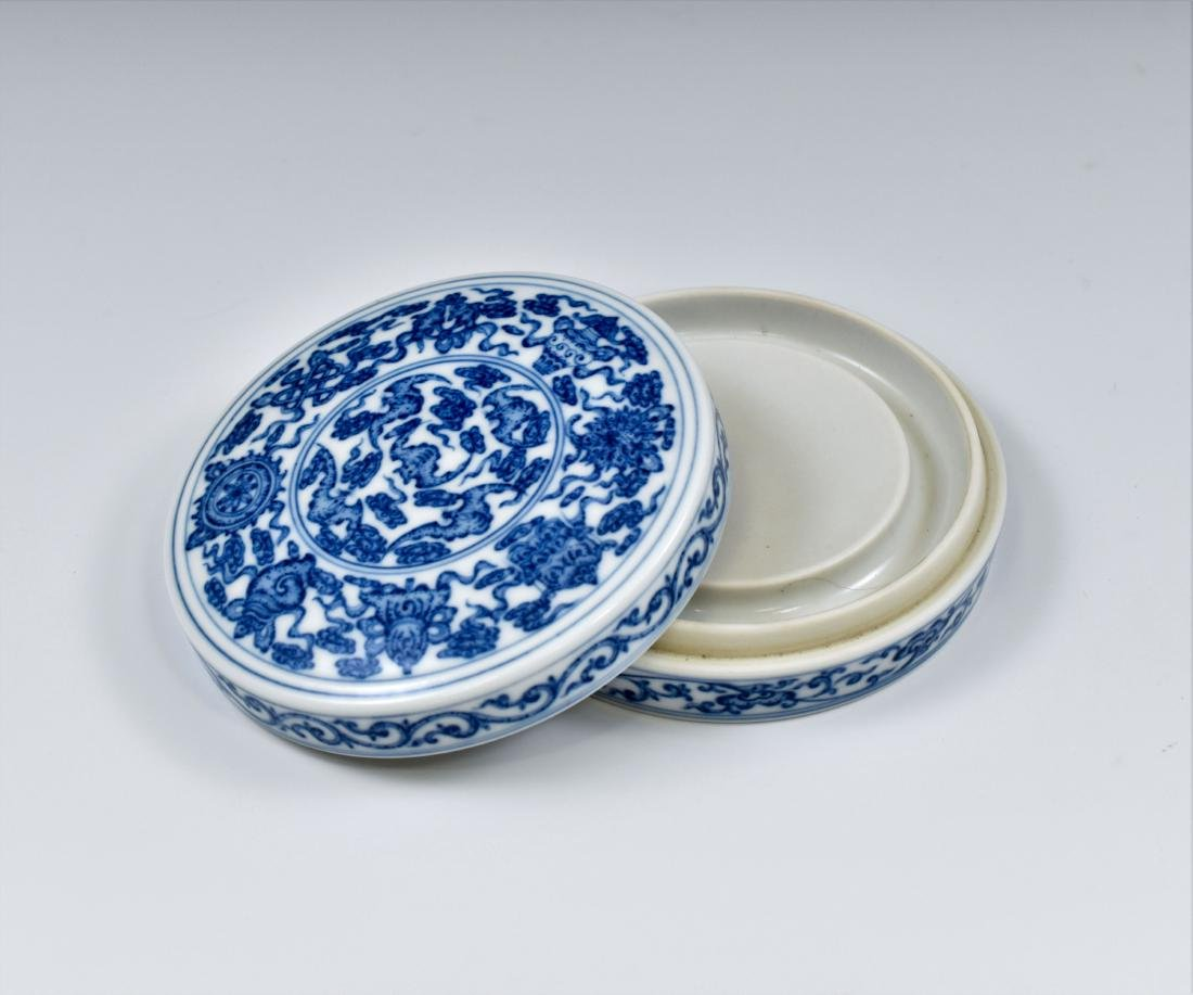 QING CHINESE PORCELAIN INK BOX - 7