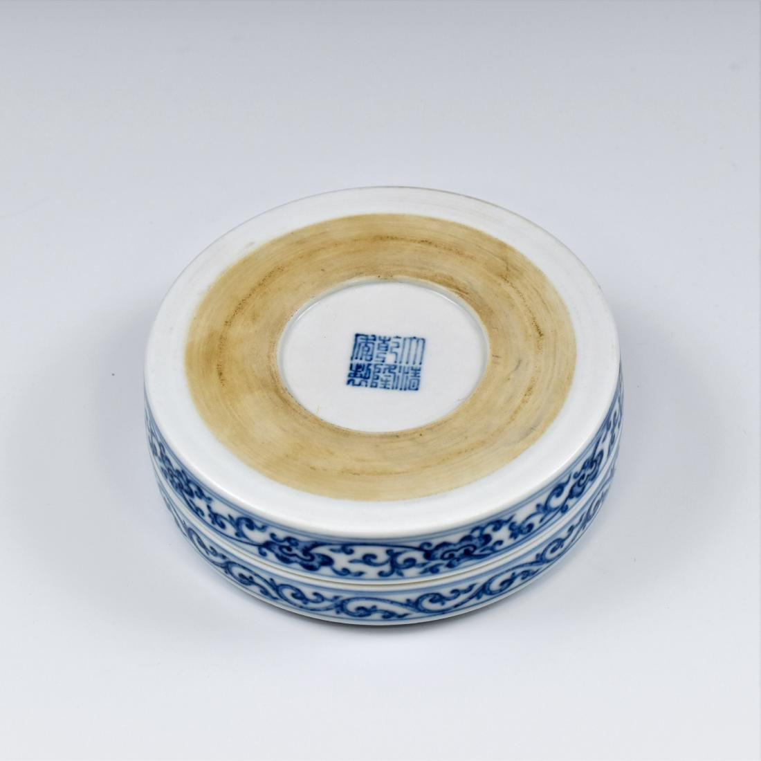 QING CHINESE PORCELAIN INK BOX - 8