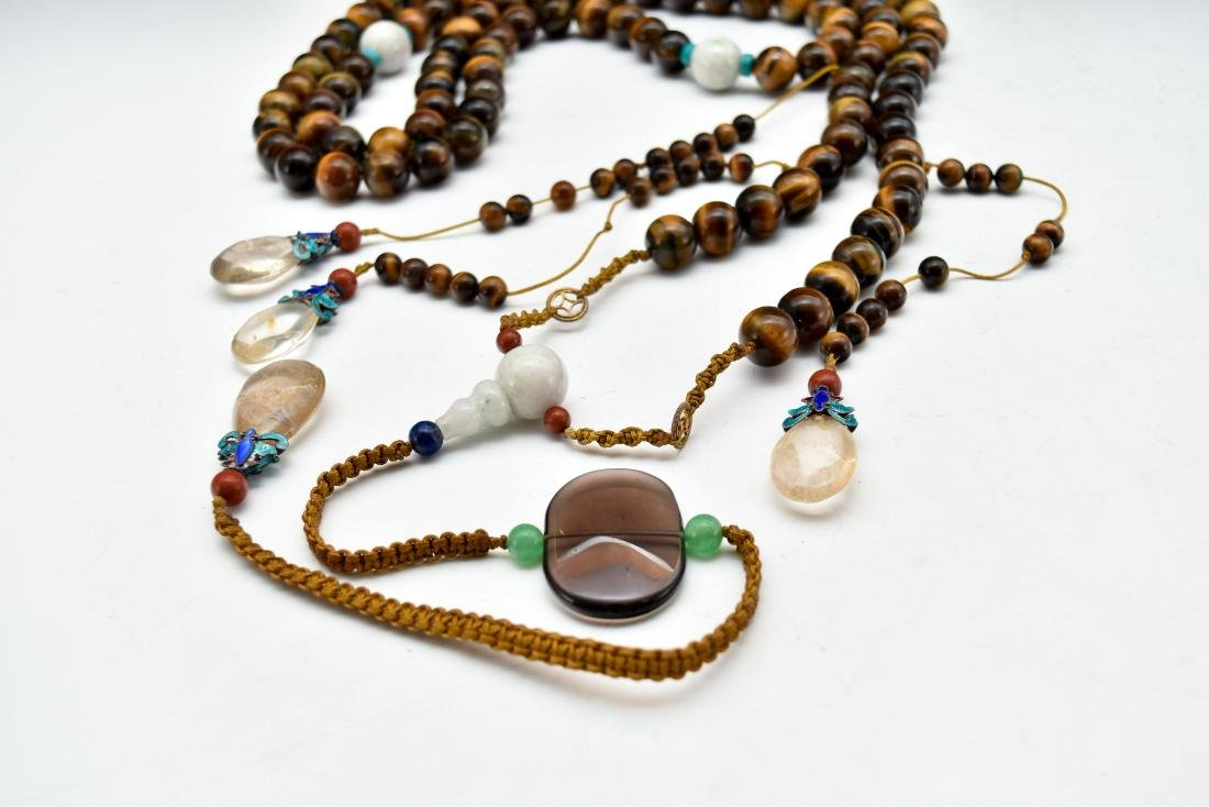 QING AGATE CHAOZHU COURT NECKLACE - 2