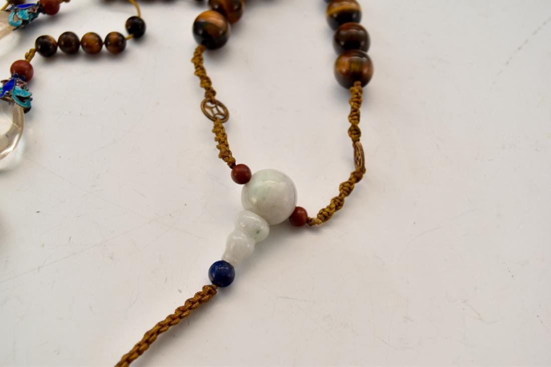 QING AGATE CHAOZHU COURT NECKLACE - 6