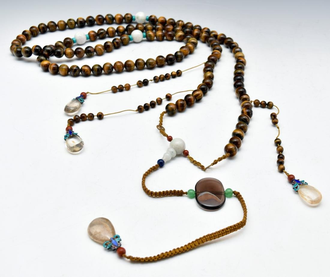 QING AGATE CHAOZHU COURT NECKLACE - 9