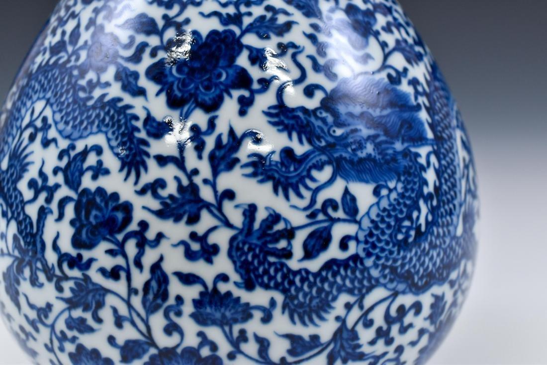 BLUE & WHITE DRAGON PEAR VASE, YUHUCHUNPING - 10
