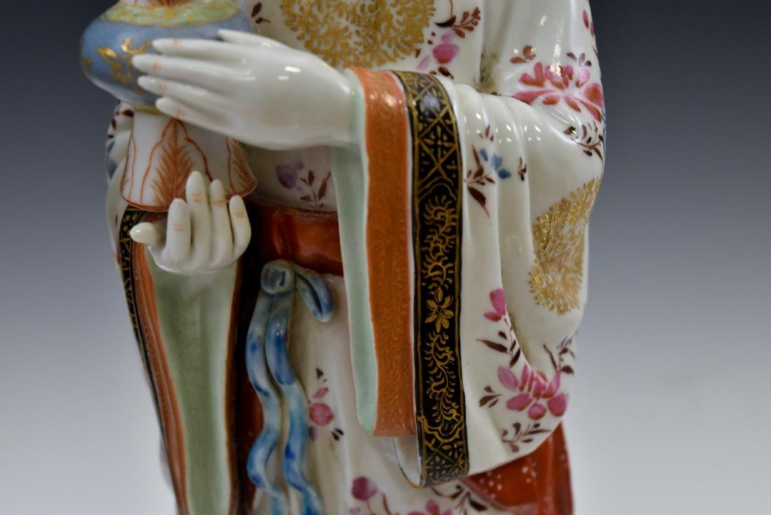 20TH C PAIR OF CHINESE FAMILLE ROSE PORCELAIN FIGURINES - 9