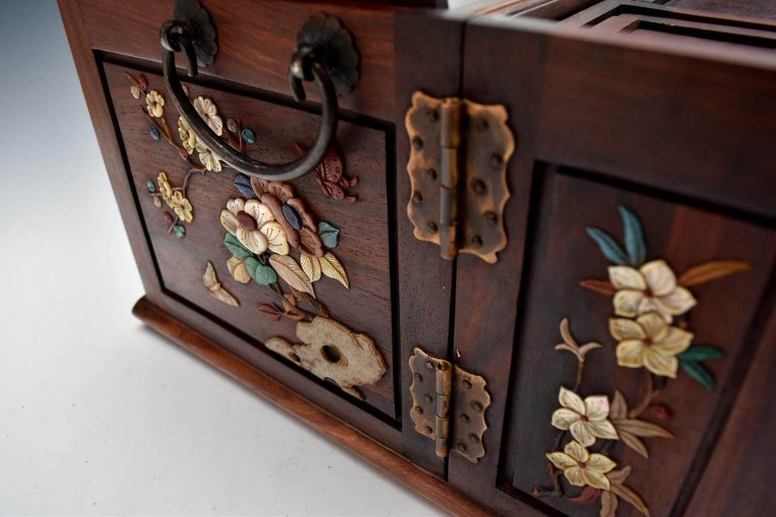 HUANGHUALI INLAID JEWELRY CHEST - 10