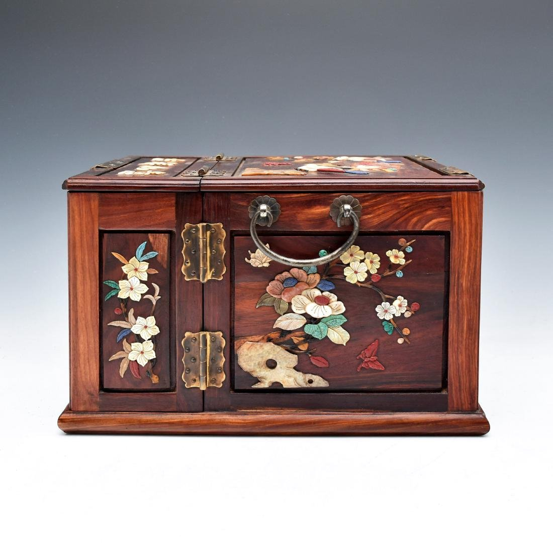 HUANGHUALI INLAID JEWELRY CHEST