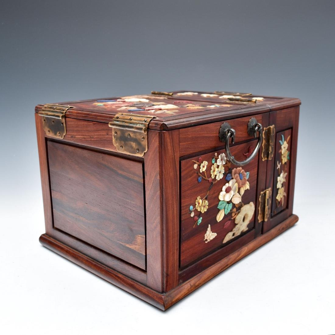 HUANGHUALI INLAID JEWELRY CHEST - 3