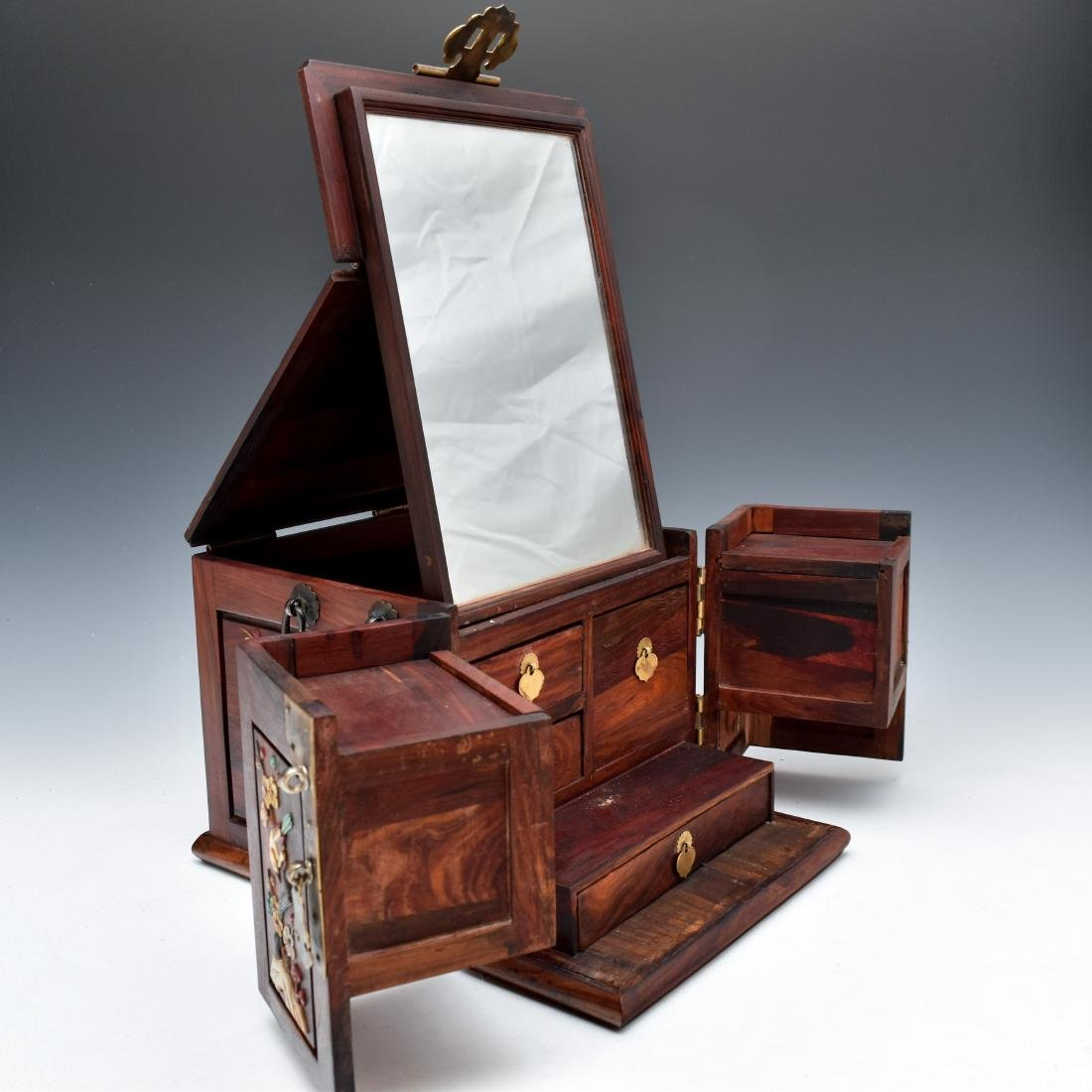 HUANGHUALI INLAID JEWELRY CHEST - 5