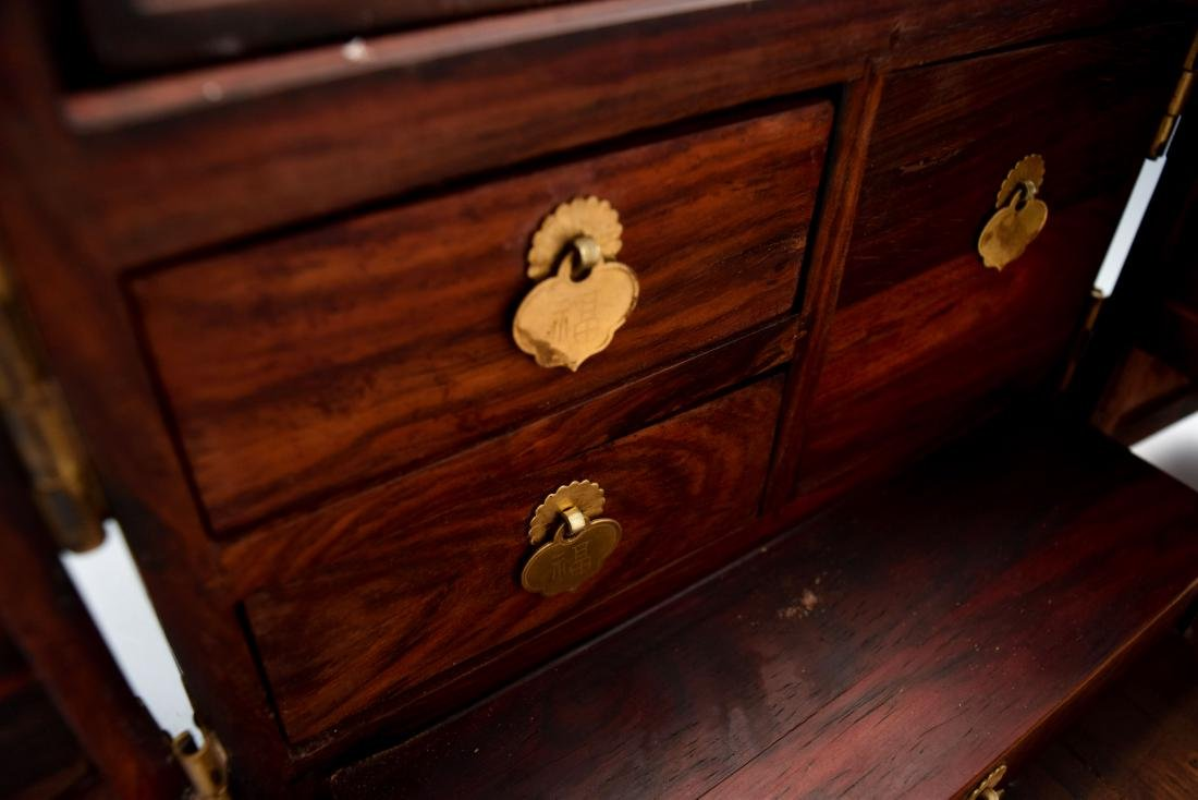 HUANGHUALI INLAID JEWELRY CHEST - 7