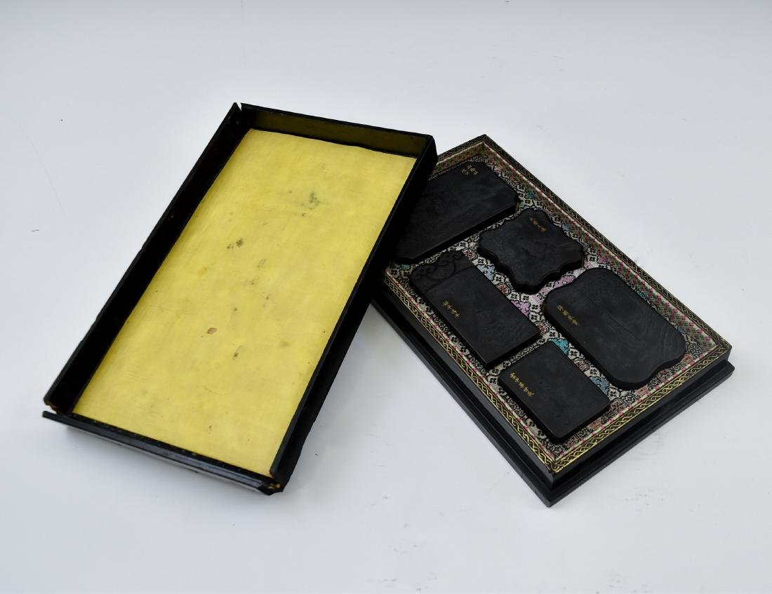 19TH C. CHINESE INK STONES IN BOX