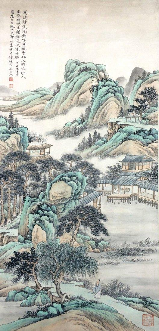 A CHINESE WATERCOLOR SCROLL PAINTING