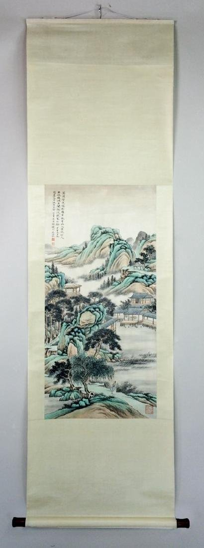 A CHINESE WATERCOLOR SCROLL PAINTING - 2
