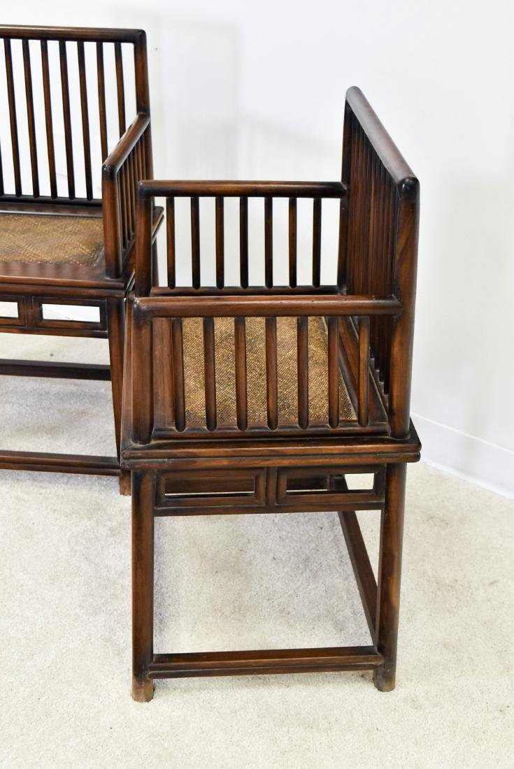 18/19TH C. PAIR OF HUANGHUALI ROSE ARMCHAIRS, MEIGUI YI - 10